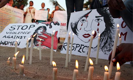 A silent protest in Mumbai against the gang rape of an Indian student in New Delhi