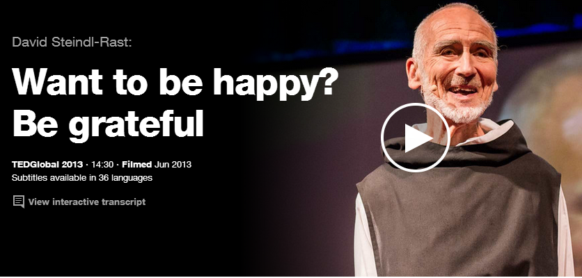 how to be happy ted talk