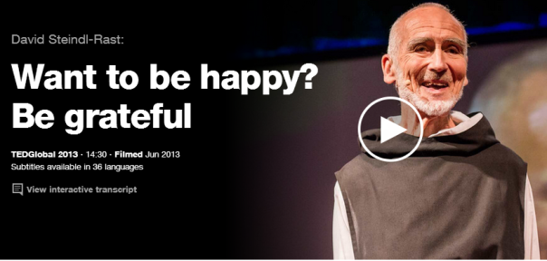 TED Talk Want to be happy