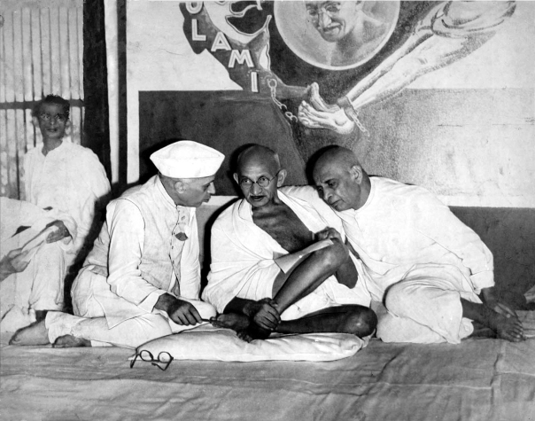 That was then - Nehru, Gandhi and Sardar Vallabhbhai Patel, All India Congress Committee meeting, Bombay, 1946.