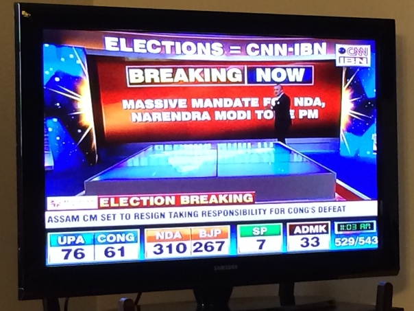 TV screen election results