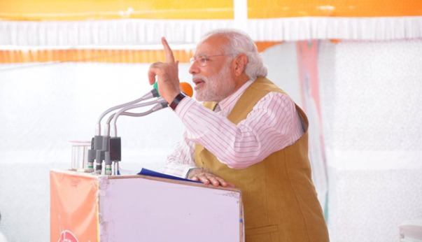 Modi campaigning in April 2014