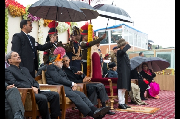 President Barack Obama with PM Modi and other dignitaries
