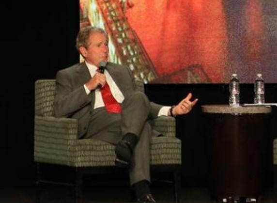 George W on stage at BPOG